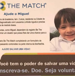 Salve a vida de Miguel Carelli, seja doador de medula óssea