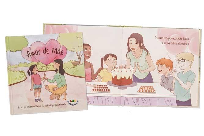 """Editora brasileira em NJ lança livro infantil em português: """"Amor de Mãe"""""""