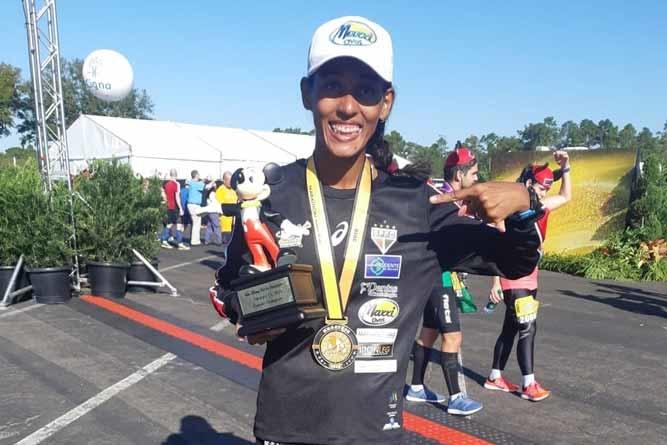 Brasileira sagra-se tetracampeã da Walt Disney World Marathon