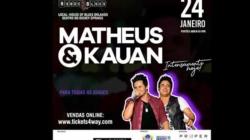 Ingressos para o show de Matheus e Kauan