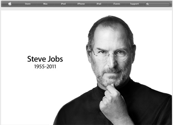 Comunicado oficial da Apple sobre a morte de Steve Jobs