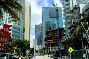 Bairro Brickell em Miami, onde a China Communications Construction está investindo