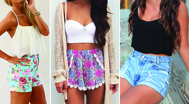 Cropped top e shorts