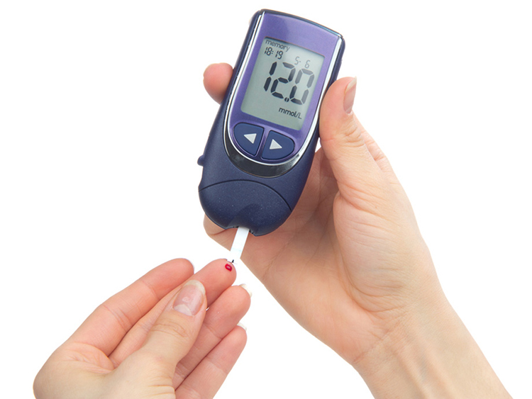 Finger prick with glucose meter
