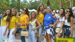 Brazilian Day: verde e amarelo tomam conta do parque Lake Eola, em Orlando