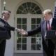 Jair Bolsonaro e Donald Trump falam à imprensa em Washington