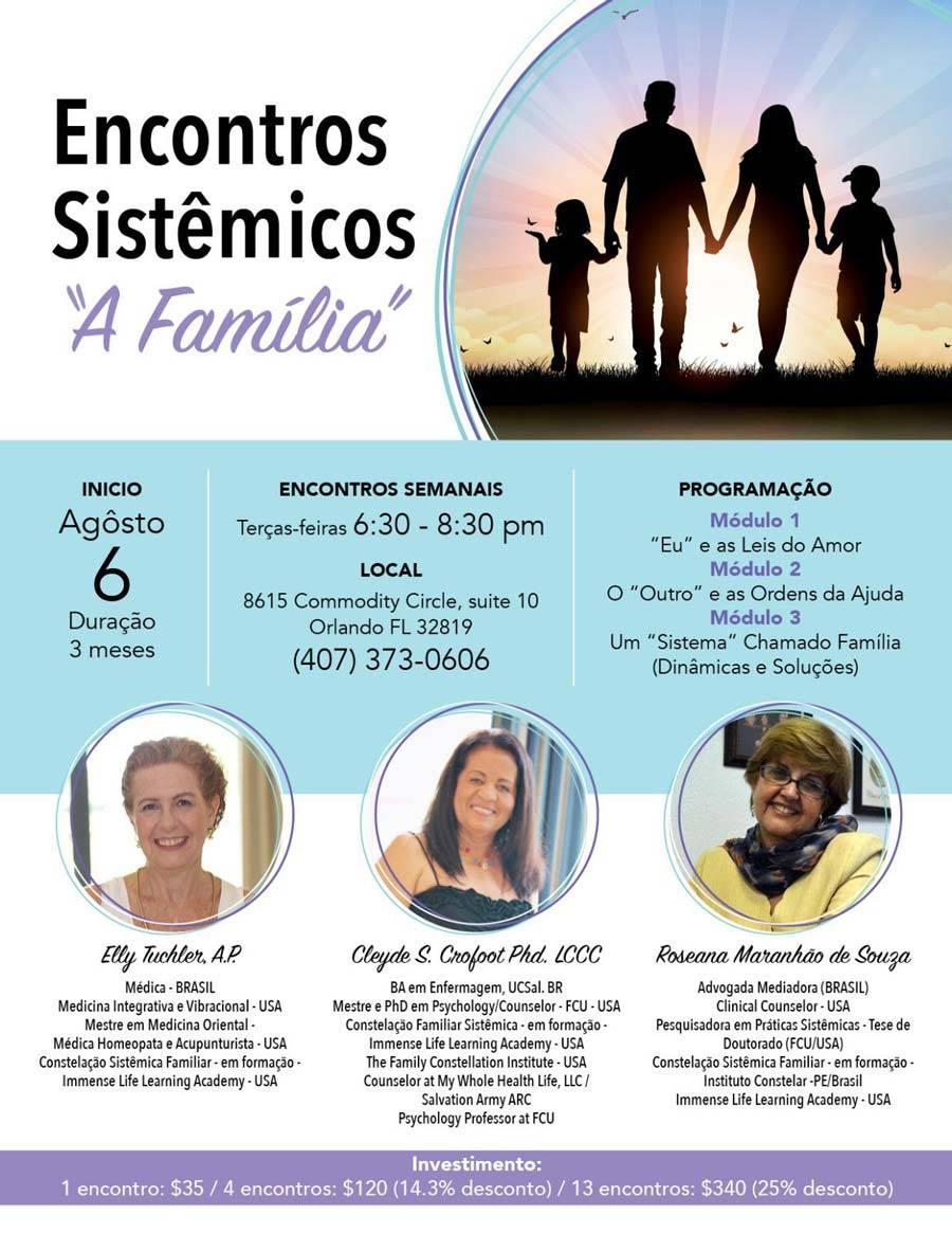 Encontros Sistêmicos terá palestras em Orlando