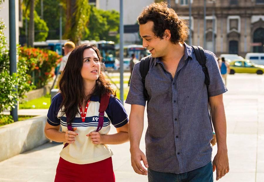 Enzo (Eduardo Sterblitch) e Rita (Tatá Werneck).Crédito: Globo/ Paulo Belote