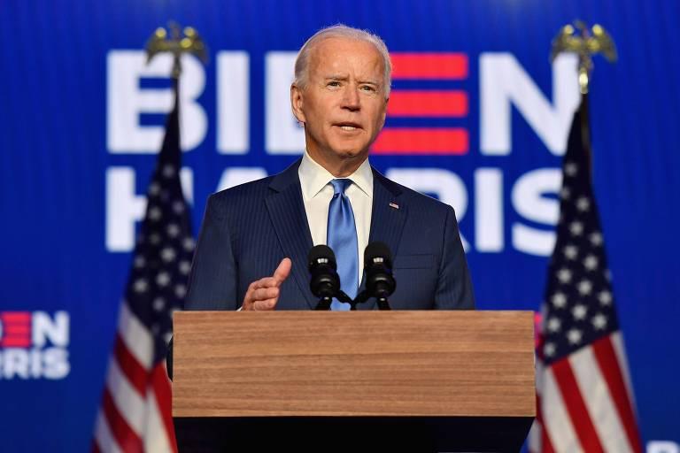 """Biden promete unificar, não dividir, lembrando que América """"é o farol do mundo"""""""