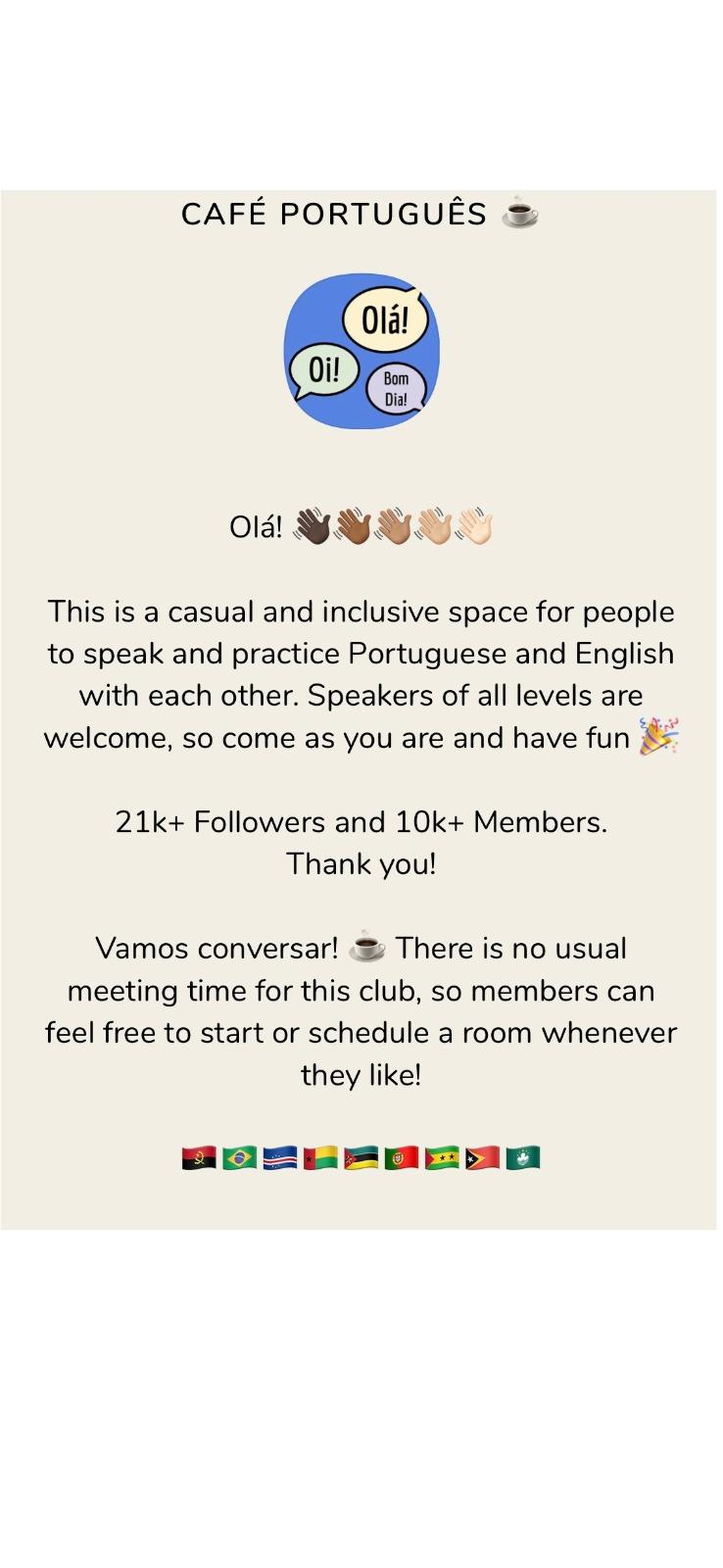 """Conheça o aplicativo """"Clube Café Português"""", no Clubhouse, e integre a rede de brasileiros"""