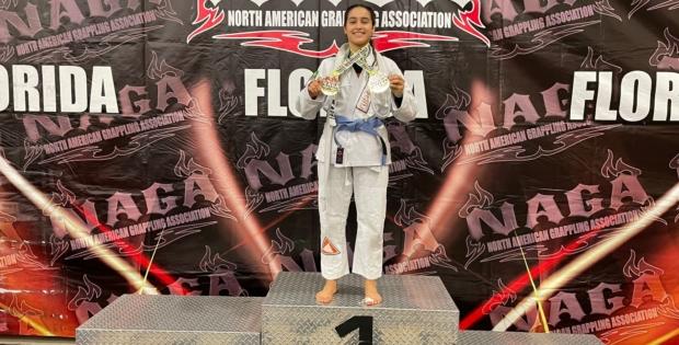 Miriam Brilhante é campeã de Jiu-Jitsu do 'Grappling de Naga Orlando'