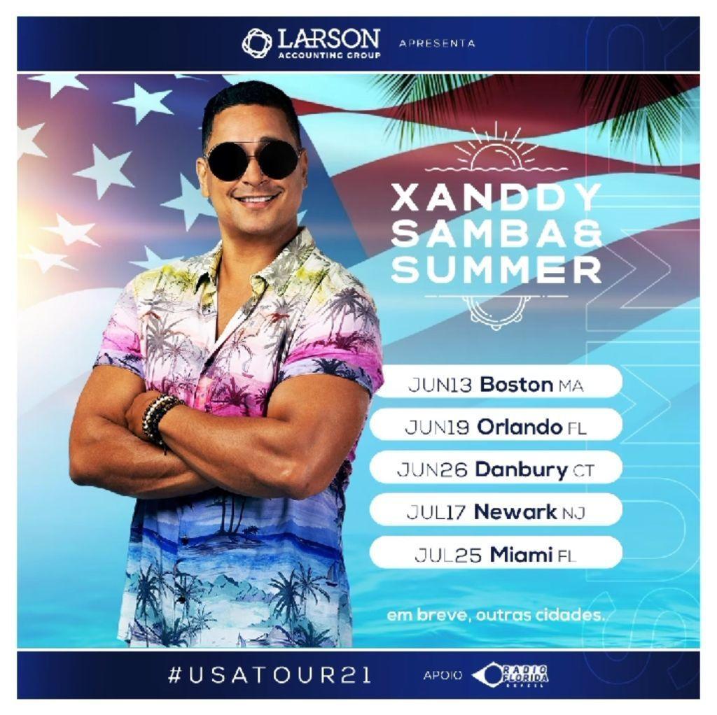 """Noite brasileira em Orlando abre turnê do show """"Xanddy, Samba & Summer"""""""