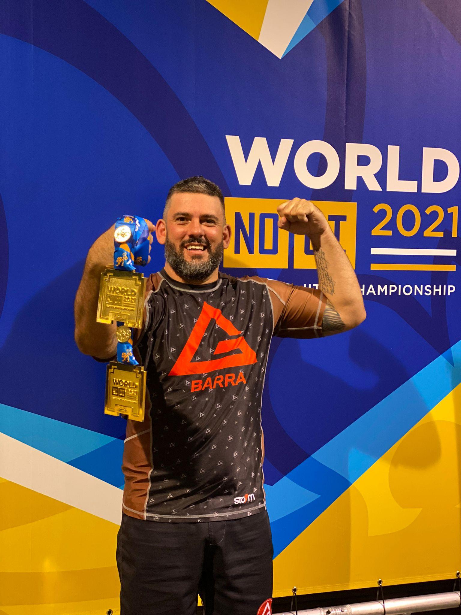 Marcelo Fox conquista duas medalhas de ouro no 'Mundial de Jiu-Jitsu', em Dallas