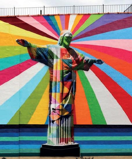 Muralista brasileiro encanta Nova York com painel em homenagem às mulheres